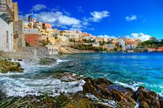 We're falling in love all over again with Syros Island, Greece. Greece Travel, Italy Travel, Travel Usa, Travel Europe, Graphic 45, Syros Greece, Learning German, Greece Architecture, Wave Rock
