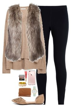 """""""tomorrow is the last day of school!"""" by thatprepsterlibby ❤ liked on Polyvore featuring NIKE, Zara, Kate Spade, Tory Burch, Breckelle's, Too Faced Cosmetics and Burberry"""