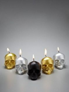 cool skull candles - Google Search