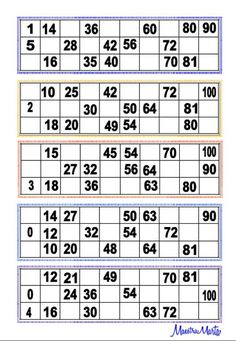 tombola Ticket Generator, Bingo Card Generator, Free Printable Bingo Cards, Printable Paper, Printables, Kitty Party Games, Cat Party, Bingo Tickets, Tambola Game