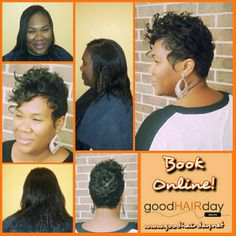 Relaxed Style: Short Cut, Waves and Curls Relaxed Styles, Natural Styles, Keratin Treatments, Custom Color, Precision Cuts Book online!  www.goodhairday.net