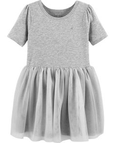 Extra cute with extra stretch, this tutu dress features an embroidered metallic heart and quarter-length sleeves. Perfect for her next party! Tutus For Girls, Toddler Girl Dresses, Girls Dresses, Toddler Girls, Tutu Dresses, Toddler Hair, Dance Dresses, Baby Girls, Toddler Fashion