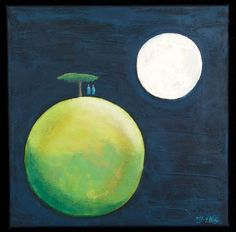 Buy Conversation with the Moon XIV, acrylic on canvas, Acrylic painting by Mariann Johansen-Ellis on Artfinder. Discover thousands of other original paintings, prints, sculptures and photography from independent artists.