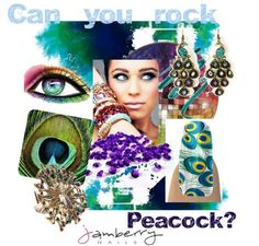 Peacocks on nails! Jamberry Nail #wraps #nailart French Tips and #peacocks without polish! www.LoveTheNails.com