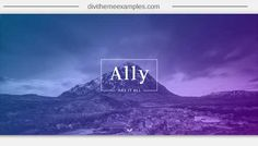 Ally (Divi Child Theme) - Divi Theme Examples