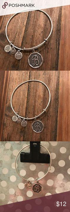 "Alex & Ani bracelet ""B"" EUC Alex & Ani bracelet (authentic) sterling silver Alex & Ani Jewelry Bracelets"