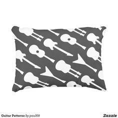 Guitar Patterns Accent Pillow