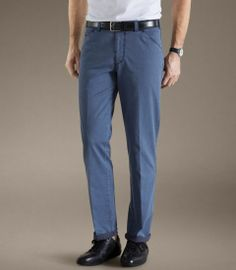 Meyer Blue Two-Tone Cotton Twill Lightweight Chinos - Chicago 501 - Available to buy online at http://www.afarleycountryattire.co.uk/meyer-trousers/ #meyertrousers #afcountryattire #mensfashion
