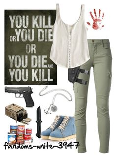 Im so ready for Fear the Walking Dead by fandoms-unite-3947 on Polyvore featuring Renzo and Kai, J Brand, Shoes Galore and INC International Concepts