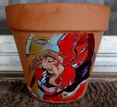 Iron Man 6 inch pot acrylic