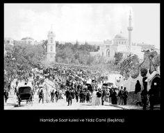 İstanbul-Yıldız Albümleri, Hamidiye Saat kulesi ve Yıldız Cami (Beşiktaş)