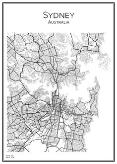 See related links to what you are looking for. Sydney Map, Map Geo, Melbourne, Map Wall Art, City Maps, Vintage Maps, Wall Art Designs, Plans, Decoration