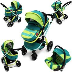 iSafe Baby Stroller Pram 3 in 1 - LiL Friend Design (Complete With Car Seat ) - Baby Travel UK  - 1