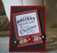 Marybeth's Time for Paper-Kits of Christmas.  Love the banner made from bow parts & starts.