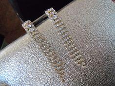 Beautiful Long Dangly Rhinestone Earrings Black by MartiniMermaid, $22.50