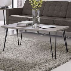 Hearts Attic Modern Classic Vintage Style Coffee Table ($119) ❤ liked on Polyvore featuring home, furniture, tables, accent tables, storage shelving, adjustable coffee table, adjustable folding table, storage coffee table and storage shelves