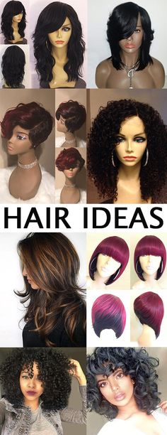 Hair is simple in structure, but has important functions in social functioning.Get all the new hair ideas you need and discover the hottest celebrity hairstyles, the best haircuts for your face shape and the right hair colors all on Dresslily. Pretty Hairstyles, Braided Hairstyles, Natural Hair Styles, Short Hair Styles, Synthetic Lace Front Wigs, Celebrity Hairstyles, Hair Dos, Hair Designs, Hair Hacks