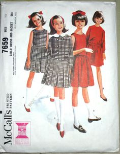 60's patterns.  My mom was a wiz with the sewing machine.