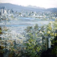 leanne christie painting of the Cambie street bridge