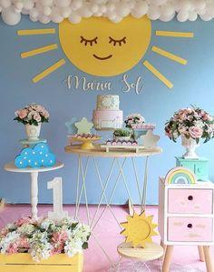 2nd Birthday Parties, Baby Birthday, Sunshine Birthday Cakes, Adoption Party, Baby Party, Birthday Decorations, First Birthdays, Aurora, Emerson
