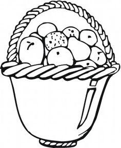 Coloring Pages For Kids Fruit Basket