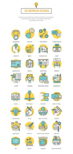 Modern Line Illustrations Collection by .C-Du on @creativemarket