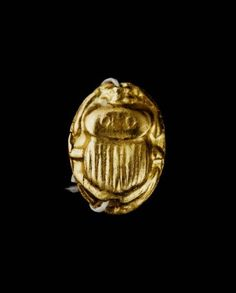 Scarab--Nubian, Meroitic Period, reign of Amanikhatashan, A.D. 62–85; Hollow gold scarab, pierced lengthwise, flat underside