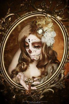 Day of the Dead Makeup, Dia De Los Muertos, Sugar Skull, Sugar Skull Girl, Sugar Skull Makeup, Sugar Skulls, Candy Skulls, Dead Makeup, Day Of The Dead Skull, Sugar Skull Tattoos, Chicano Art, Skull Art
