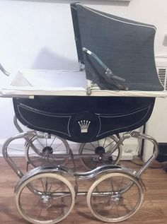 VINTAGE BABY DOLL CARRIAGE BUGGY STROLLER BUILT RITE PRAM 50'S MADE IN ENGLAND #Biltrite