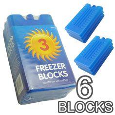 Rose Evans® Freezer Blocks - Suitable For Cooler Boxes & Bags - Cools & Keeps Food Fresh - In Packs of (Pack of - UKsportsOutdoors Box Bag, 6 Packs, Freezer, Packing, Cool Stuff, Food Fresh, Rose, Evans, Warehouse