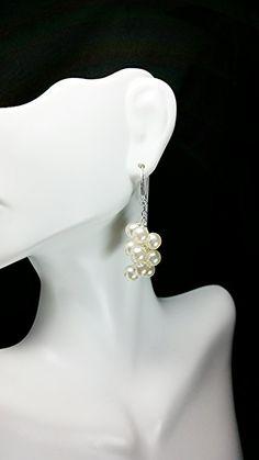 Pearl Drop Earrings by KSJeweler on Etsy, $24.99