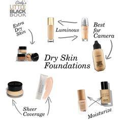 Dry Skin Foundations by cindyslittleblackbook on Polyvore featuring beauty, Laura Mercier, MAC Cosmetics, Bobbi Brown Cosmetics, tarte, Yves Saint Laurent, L'Oréal Paris and Vision