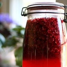 Time does most of the work in this easy and delicious Homemade Cranberry Liqueur. Makes great Christmas gifts.