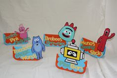 Yo gabba gabba food tents & Katie Grace Designs: AMAZING Yo Gabba Gabba Party! | Yo Gabba ...