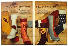 1954 Vintage Advertising KNITTING SOCKS by ACMEVintageLimited, $8.75  https://www.etsy.com/shop/ACMEVintageLimited