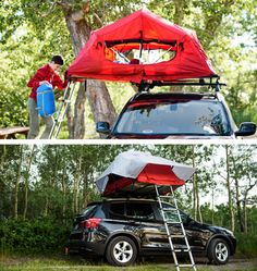 Add this one to the wish list. Yakima, the world-renowned maker of camping products for your vehicle, will soon release the SkyRise, a rooftop camping tent for your crossover or SUV. It's their first entry into the tent market and by the looks of these initial images, it's bound to draw plenty of attention from fans of the outdoor lifestyle.As for the tent itself, it's comprised of a 210D nylon tent body, certified fire-resistant yet breathable and lightweight. Yakima also hooks it up with a…
