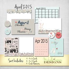 Free April 2015 Journal Card Kit - www.michellejdesigns.com