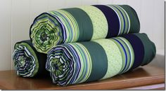 Washable Bolster Pillows Tutorial