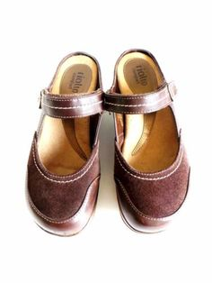 Rialto Comfort Mystical Womens Brown Suede Mary Jane Mule Clog Shoe - Size 8.5M in Clothing, Shoes & Accessories, Women's Shoes, Flats & Oxfords | eBay