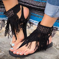 Bohemian Sandals, Boho Shoes, Fringe Sandals, Flat Sandals, Brown Sandals, Sandal Heels, Strappy Sandals, Slide Sandals, Shoes Sandals