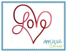 Love Heart Embroidery Design  Click for Detail	#1998 Love Heart Embroidery Design Love Heart Embroidery Design can be used in the following hoop sizes: 4x4; 5x7; 6x10; & 7x11   We support the following file formats art, exp, xxx, pes, vip, vp3, hus, sew, dst and jef