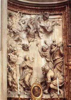 FERRATA, Ercole Stoning of St Emerenziana 1660 Marble, height 310 cm Sant'Agnese in Agone, Rome Piazza Navona, Baroque Sculpture, Rome Italy, Roman Catholic, Facade, Vintage World Maps, Saints, Marble, Statue