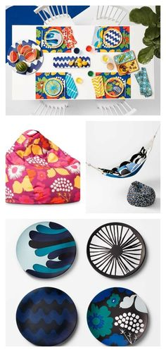 How awesome are these colorful home decor items from Marimekko for Target?