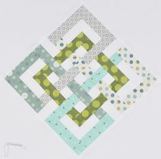 Interlocking Seasons Quilt block - with link to tutorial and pdf download | The Parfait Cafe