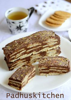 No Bake Biscuit Pudding-Marie Biscuit Pudding-Biscuit Cake-Easy Dessert Recipe