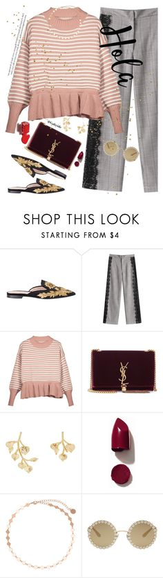 """Casual friday"" by gabyidc ❤ liked on Polyvore featuring Alberta Ferretti, Yves Saint Laurent, Kenneth Jay Lane, NARS Cosmetics, Dolce&Gabbana, outfit, ootd and zaful"