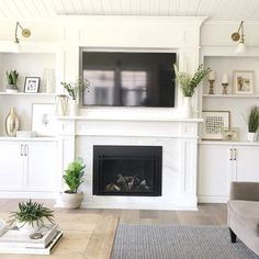 Do you enjoy to design your house, as much as I do? I am pretty sure, the answer is yes :-) Here is an article related with fireplace design. Built In Around Fireplace, Fireplace Built Ins, Fireplace Remodel, Fireplace Surrounds, Fireplace Design, Tv Above Fireplace, Bookshelves Around Fireplace, Fireplaces With Tv Above, White Mantle Fireplace