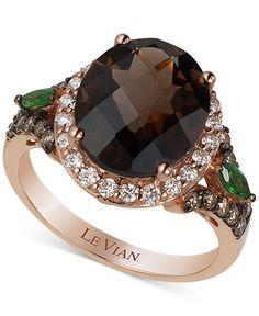 Le Vian Chocolatier Crazy Collection Multi-Stone (4 ct. t.w.) and Diamond (2/3 ct. t.w.) Ring in 14k Rose Gold