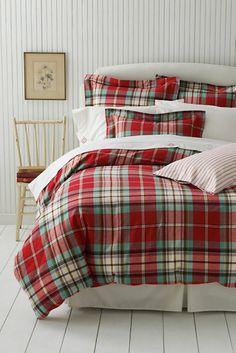 Flannel Antique Plaid Duvet Cover or Sham from Lands' End