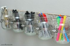 11 Clever ways mason jars are used as craft storage | Small Room Ideas